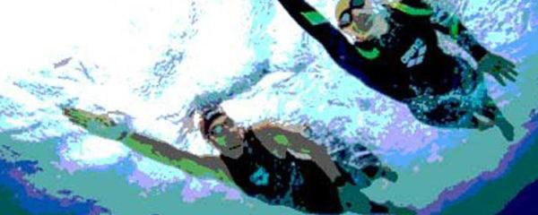 nage en mer